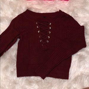 NWOT Express: Crop Knit Sweater